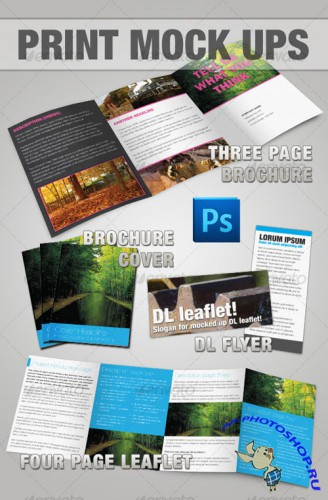 GraphicRiver - Brochure & Leaflet Mock-up - Photoshop