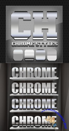 4 Amazing Chrome Text Styles for Photoshop