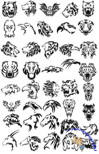 Animals Tribal Brushes