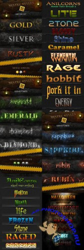 Collection of Text Style for Photoshop pack # 3