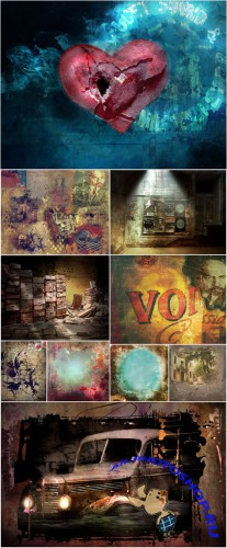 Collection of Vintage Creative Backgrounds