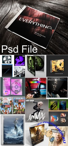 DVD Covers and CD Cases PSD Templates Pack