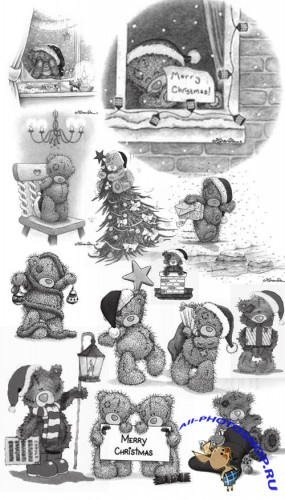 Teddy Christmas Brushes
