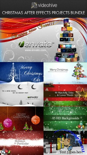 Videohive - Christmas After Effects Projects Bundle
