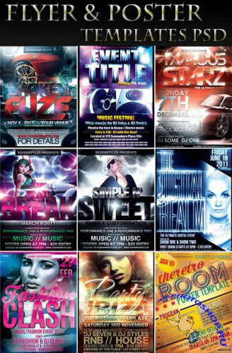 Flyer & Poster Templates PSD Vol.3