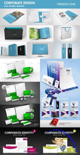 Corporate Identity & Stationary Mock-Up Bundle