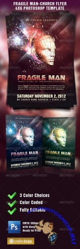 GraphicRiver - Fragile Man-Church Flyer Template