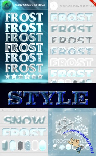 Frosty and Snows Text Styles