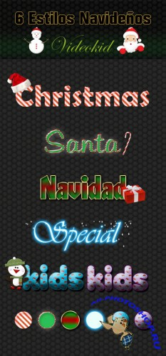 6 Christmas Photoshop Styles