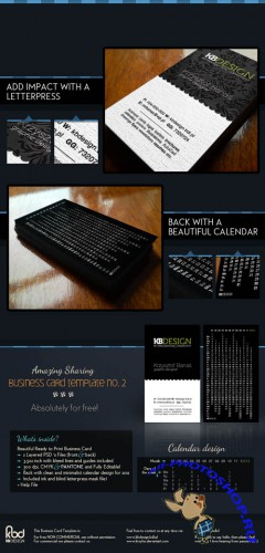 PSD Template - Business Card (Two Sides) Pack 2
