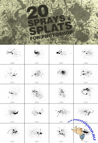 20 Splat Brushes