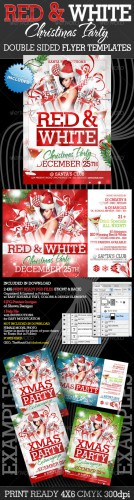 GraphicRiver - Red and White Christmas Party Flyer Templates