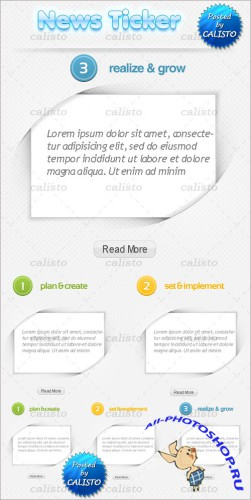 News Ticker PSD Template