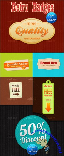 PSD Template - Retro Badges