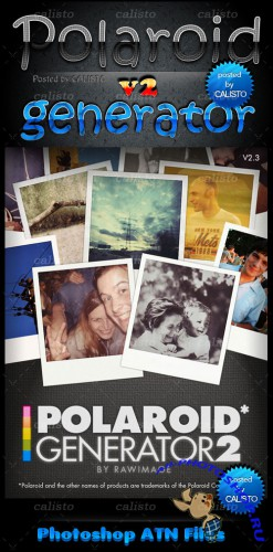 Polaroid Generator Actions for Photoshop Pack 2