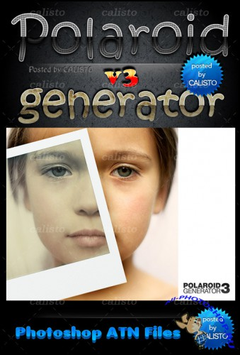 Polaroid Generator Actions for Photoshop Pack 3
