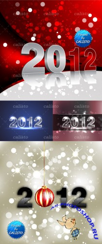 2012 New Year Vector Backgrounds