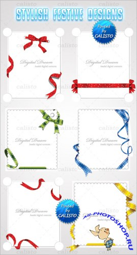 Stylish Festive Designs Vector Templates