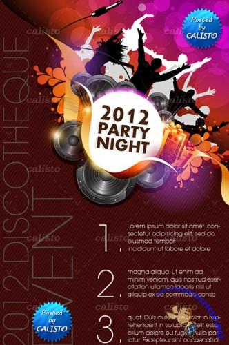 Party Night Background Vector Templates