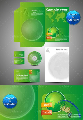Green Business Style Vector Templates