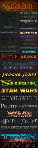 Cool Photoshop Text Styles  pack # 6