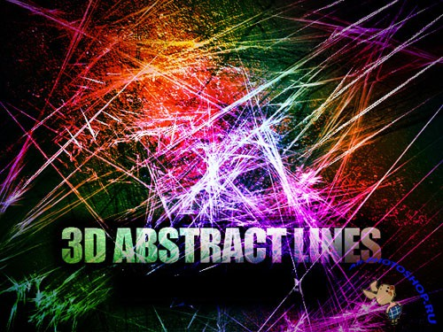 3D ABSTRACT LINES BRUSHES FOR PHOTOSHOP