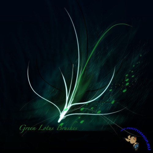 Green Lotus for Photoshop