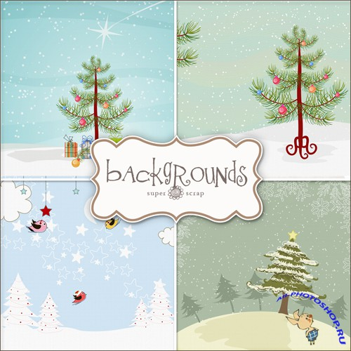 Textures - Christmas Backgrounds #27
