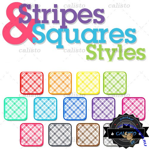 Stripes and Squares Styles for Photoshop