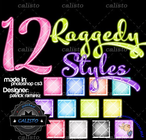 12 Raggedy Styles for Photoshop
