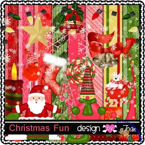 Scrap-set - Christmas Fun - Design By Joan
