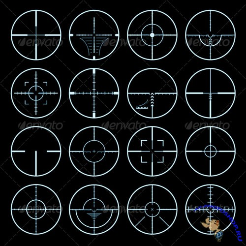 GraphicRiver - Crosshairs Vector Set