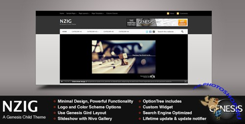 ThemeForest - Nzig - A Genesis Child Theme