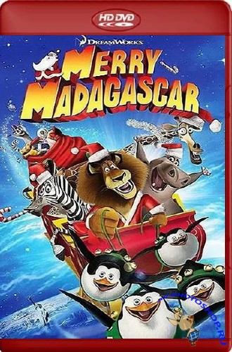 �������������� ���������� / Merry Madagascar (2009/HDTVRip-AVC/581mb)