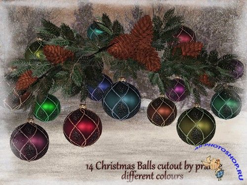 Christmas Balls 2 cutout stock