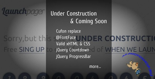 ThemeForest - Launchpager - Under Construction & Coming Soon - Rip