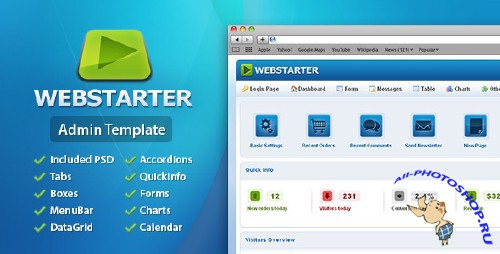 ThemeForest - WebStarter Admin Template - Rip