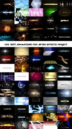 100 Text Animations «Анимация текста» — After Effects Project