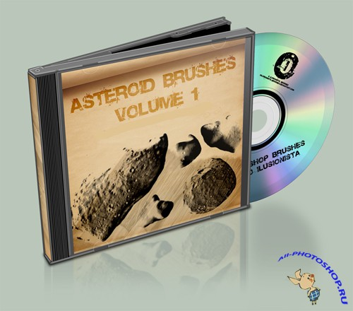 Brushes pack - Asteroids Vol 1