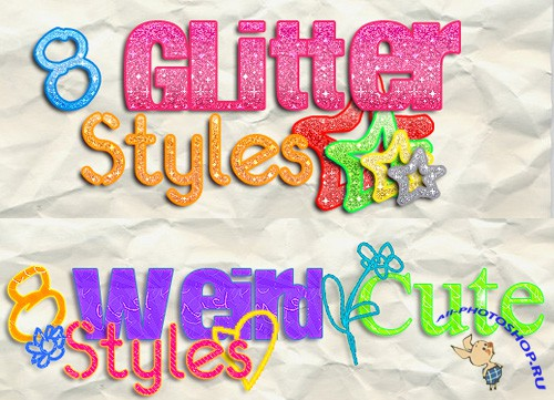 Glitter Styles and Weird Cute text Styles