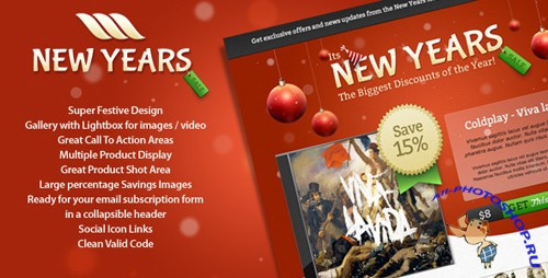 ThemeForest - New Year Sale Landing Page - Rip
