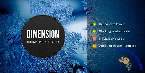 ThemeForest - Dimension - Minimalist Portfolio Template - Rip