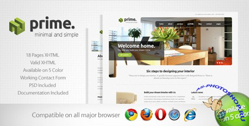 ThemeForest - Prime - Simple Business Template 3 - Rip