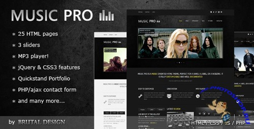 ThemeForest - Music Pro - Music Oriented HTML Template - Rip