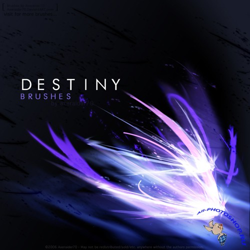 Cool Destiny Brushes set