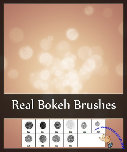 Real bokeh brushes for Photoshop
