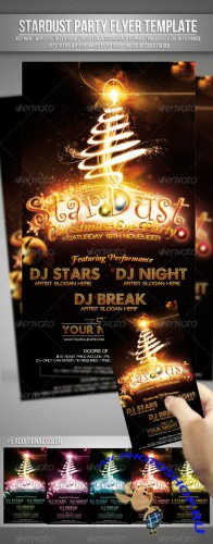 GraphicRiver - Stardust ( Christmas Eve Party ) Flyer Template