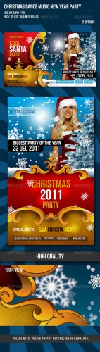 GraphicRiver - Christmas / New Year Dance Party Night Flyer
