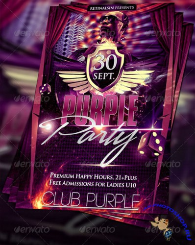 GraphicRiver - Purple Party Flyer Template (REUPLOAD)