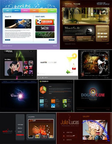 10 Flash Template Website